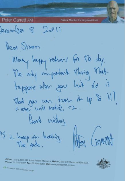 Garrett note
